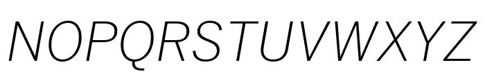 Benton Sans Extra Compressed Light Italic Font UPPERCASE