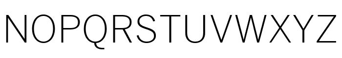 Benton Sans Extra Compressed Light Font UPPERCASE