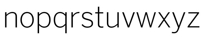 Benton Sans Extra Compressed Light Font LOWERCASE