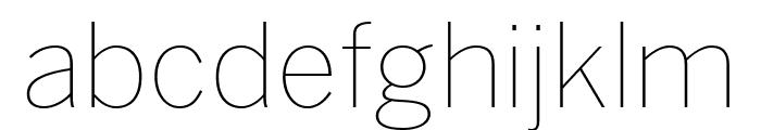 Benton Sans Extra Compressed Thin Font LOWERCASE