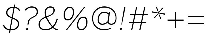 Benton Sans Extra Light Italic Font OTHER CHARS