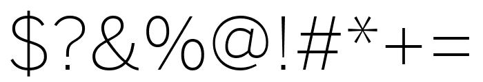 Benton Sans Extra Light Font OTHER CHARS