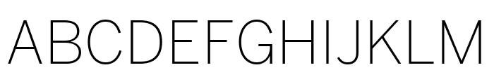 Benton Sans Extra Light Font UPPERCASE
