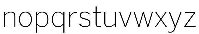 Benton Sans Extra Light Font LOWERCASE