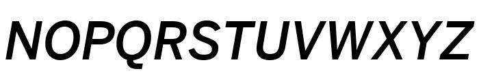 Benton Sans Medium Italic Font UPPERCASE