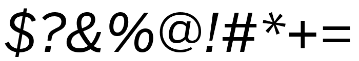 Benton Sans Wide Italic Font OTHER CHARS