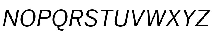 Benton Sans Wide Italic Font UPPERCASE