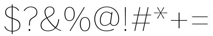 Benton Sans Wide Thin Font OTHER CHARS