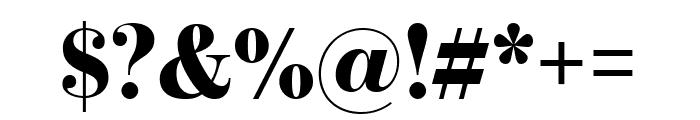 BentonModDisp Black Font OTHER CHARS