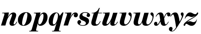 BentonModDisp BlackItalic Font LOWERCASE