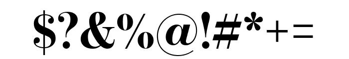 BentonModDisp Bold Font OTHER CHARS