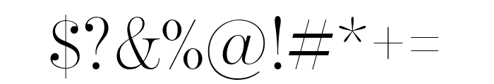 BentonModDisp Light Font OTHER CHARS