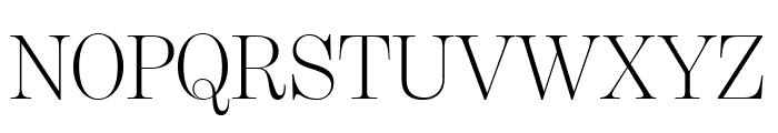 BentonModDisp Light Font UPPERCASE