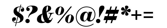 BentonModDisp UltraItalic Font OTHER CHARS