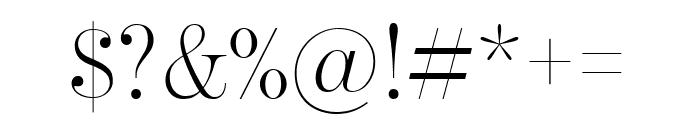 BentonModDispComp Light Font OTHER CHARS
