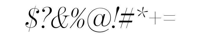 BentonModDispComp LightItalic Font OTHER CHARS