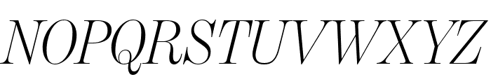 BentonModDispComp LightItalic Font UPPERCASE