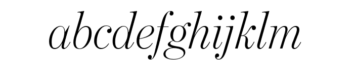BentonModDispComp LightItalic Font LOWERCASE