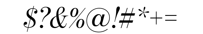 BentonModDispComp RegularItalic Font OTHER CHARS