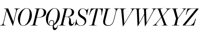 BentonModDispComp RegularItalic Font UPPERCASE