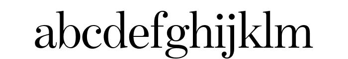 BentonModDispComp Regular Font LOWERCASE
