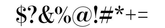 BentonModDispComp Semibold Font OTHER CHARS