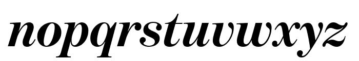 BentonModDispExCond BoldItalic Font LOWERCASE