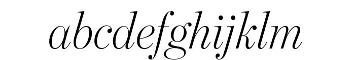BentonModDispExCond LightItalic Font LOWERCASE
