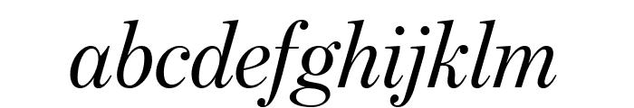 BentonModDispExCond RegularItal Font LOWERCASE