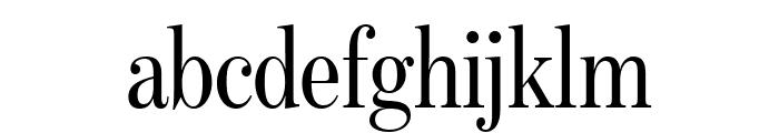 BentonModDispExCond Regular Font LOWERCASE