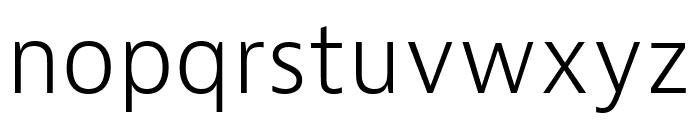Bernina Sans Compressed Light Italic Font LOWERCASE