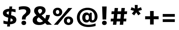 Bernina Sans Condensed Bold Font OTHER CHARS