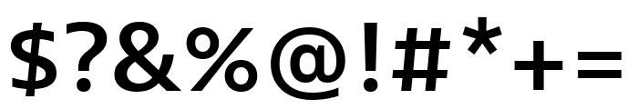Bernina Sans Condensed Semibold Font OTHER CHARS