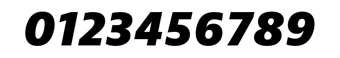 Bernino Sans Compressed Extrabold Italic Font OTHER CHARS