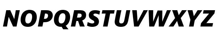 Bernino Sans Compressed Extrabold Italic Font UPPERCASE