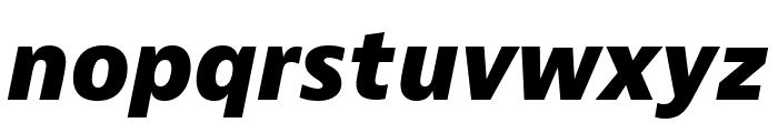 Bernino Sans Compressed Extrabold Italic Font LOWERCASE