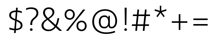 Bernino Sans Condensed Light Italic Font OTHER CHARS