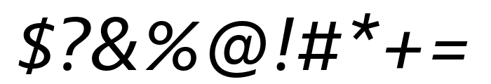 Bernino Sans Narrow Regular Italic Font OTHER CHARS