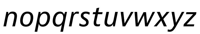 Bernino Sans Narrow Regular Italic Font LOWERCASE