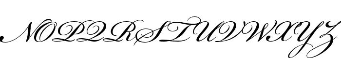 Bickham Script Pro 3 Regular Font UPPERCASE
