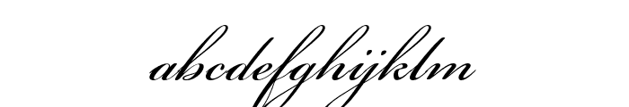 Bickham Script Pro 3 Regular Font LOWERCASE