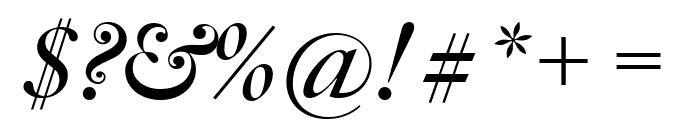 Big Caslon FB Bold Italic Font OTHER CHARS