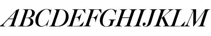 Big Caslon FB Bold Italic Font UPPERCASE