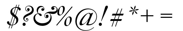 Big Caslon FB Italic Font OTHER CHARS