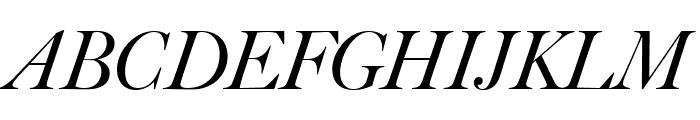 Big Caslon FB Italic Font UPPERCASE