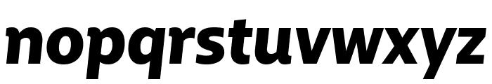 BigCity Grotesque Pro Black Italic Font LOWERCASE