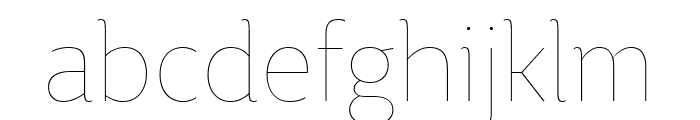 BigCity Grotesque Pro Hairline Font LOWERCASE