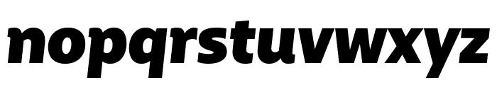 BigCity Grotesque Pro Heavy Italic Font LOWERCASE