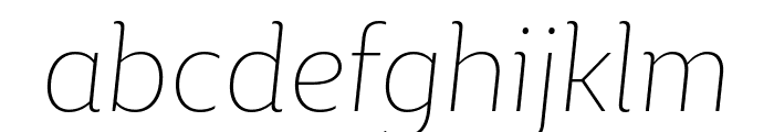 BigCity Grotesque Pro Thin Italic Font LOWERCASE
