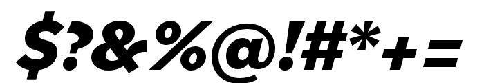 Bilo ExtraBold Italic Font OTHER CHARS